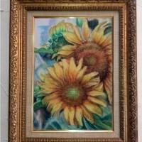 lukisan oil pastel ukuran A3