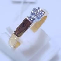 PROMO Cincin Wanita Emas Berlian 0,14 Ct Asli 100% Natural Diamond.