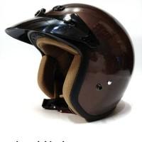 Helm Retro/Helm Classic/Helm Bogo/Helm Vespa Ava Brown Glossy