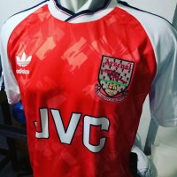 jersey retro arsenal 1991 1992 home jvc