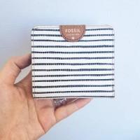 dompet fossil sydney mini bifold stripes mini wallet