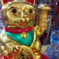 Jual Patung kucing hoki 30cm Murah