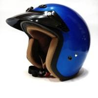 Helm Retro / Helm Classic / Helm Bogo / Helm Vespa Ava Blue Glossy