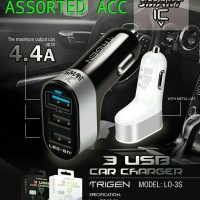 CAR CHARGER/SAVER LOG ON TRIGEN LO-3S 3 USB 4.4A