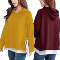 Chelsea Hoodie Tee/Baju Atasan Wanita/Baju Lengan Panjang