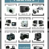 Rental/Sewa Kamera Gopro hero 4 & 5 , Fuji Mirrorless , Canon Dslr 70d
