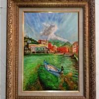 lukisan oil pastel