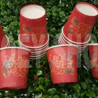 Gelas kertas Merah Sekali pakai/Acara Teh Pai/ Sangjit/Lamaran