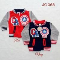 Jual baju hangat fashion jaket baseball superhero anak bayi laki laki Murah