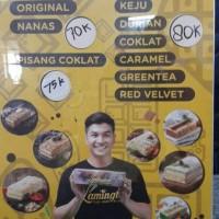 Jual Lamington Keju, Durian, Cokelat, Caramel, greentea, redvelvet Murah