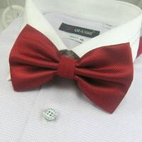 Jual Dasi Kupu Kupu Bintik Merah Maroon Murah