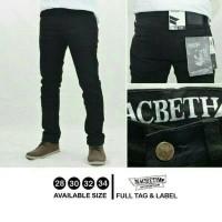 celana jeans hitam / skinny black / premium jeans macbeth huf stussy