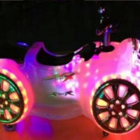 BATTERY MOTOR (WHITE) / motor aki / permainan anak