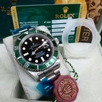 jam tangan pria rolex submariner clone free box original new