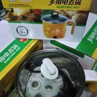 Mini Rice Pot / Panci Listrik Serbaguna, Mini Cooker Elektrik Portable