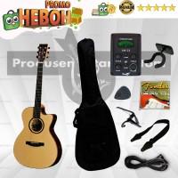 PAKET Gitar LAKEWOOD Akustik Elektrik ( Gitar Sungha Jung)