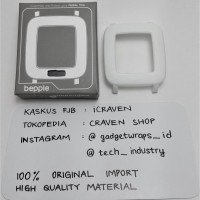 Bepple Hard Case Casing Cover Bezel for Pebble Time Smartwatch - White