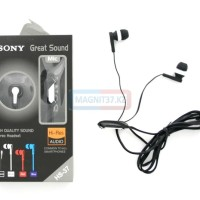 termurah Headset SONY HS-37 Earphone Musik Handsfree Universal premium
