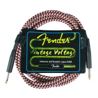 Kabel Jack Fender 3 Meter Vintage Voltage Red Kabel Gitar dan Bass