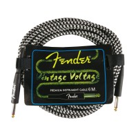 Kabel Jack Fender 6 Meter Vintage Voltage White Kabel Gitar dan Bass