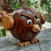 celengan tempurung kelapa motif angry bird