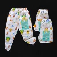 LIBBY 3 Pcs Celana Panjang Tutup Kaki Bayi/Baby Motif (3-6M)