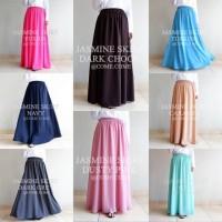 Rok Panjang Lebar Wool Peach (Jasmine Skirt)