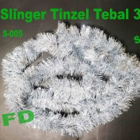 Hiasan Natal / Aksesoris  Slinger Tinzel 3in / Rumbai Silver  S-005