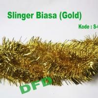 Hiasan Natal / Aksesoris Natal Slinger Biasa / Rumbai Gold ( S-003 )