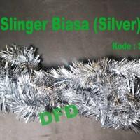 Hiasan Natal / Aksesoris Natal Slinger Biasa / Rumbai Silver ( S-003 )
