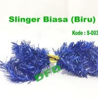Hiasan Natal / Aksesoris Natal Slinger Biasa / Rumbai Blue ( S-003 )