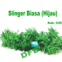 Hiasan Natal / Aksesoris Natal Slinger Biasa / Rumbai Green ( S-003 )