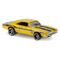 '69 Dodge Charger 500 Kuning / Yellow Mooneyes Hot Wheels HW Hotwheels