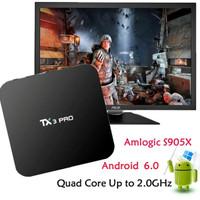 Jual TERBAIK!!! Android TV Box TX3 Pro 4K S905X Marshmallow  Murah