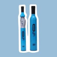 Jual Payung Lipat Desain Botol Wine Biru Murah