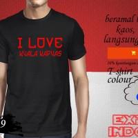 Kaos desain explore KOTA INDONESIA i love kuala kapuas KUA 19