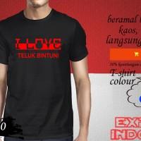 Kaos desain explore KOTA INDONESIA i love teluk bintuni KUA 50