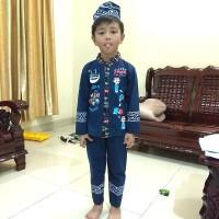 baju koko anak umur 2 sampai 4 tahun / baju muslim anak motif GAMBAR