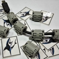 SHARK TDK Snap On Noise Filter Ferrite Cable RF EMI 5mm-8mm