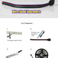 Kabel Kepala LED Strip RGB Buntung 10 cm + soket sisir 4 pin