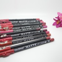 Harga seri b kiss beauty matte lip liner plus serutan nuansa coklat | antitipu.com