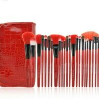 Brush Kuas MakeUp Make Up For You Set isi 24 pcs 24pcs Dompet MERAH