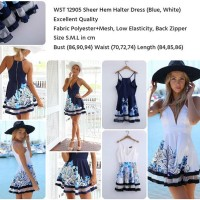 Fashion Wanita Halter Dress Mini