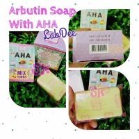 ARBUTIN PINK SOAP LABDEE / SABUN ARBUTIN + AHA LAB DEE