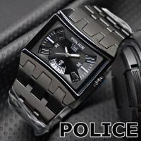 PRODUK BARU   jam tangan pria POLICE Exclusive Design Casual BLACK