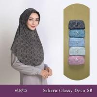 ELZATTA Sahara Classy Deco SB Jilbab Serut Motif Hijab Instan