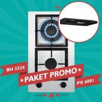 Paket Promo Modena Kompor Gas BH 3324 + Modena Cooker Hood PX 6001