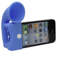 Portable Amplifier Silicone Horn Stand Speaker for iPhone 4/4S