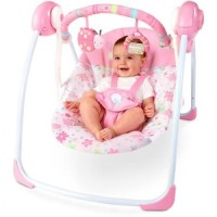 Bright Starts Pretty in Pink Blooms Portable Swing BOUNCER