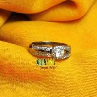 Jual cincin kawin paladium original R4308 Murah